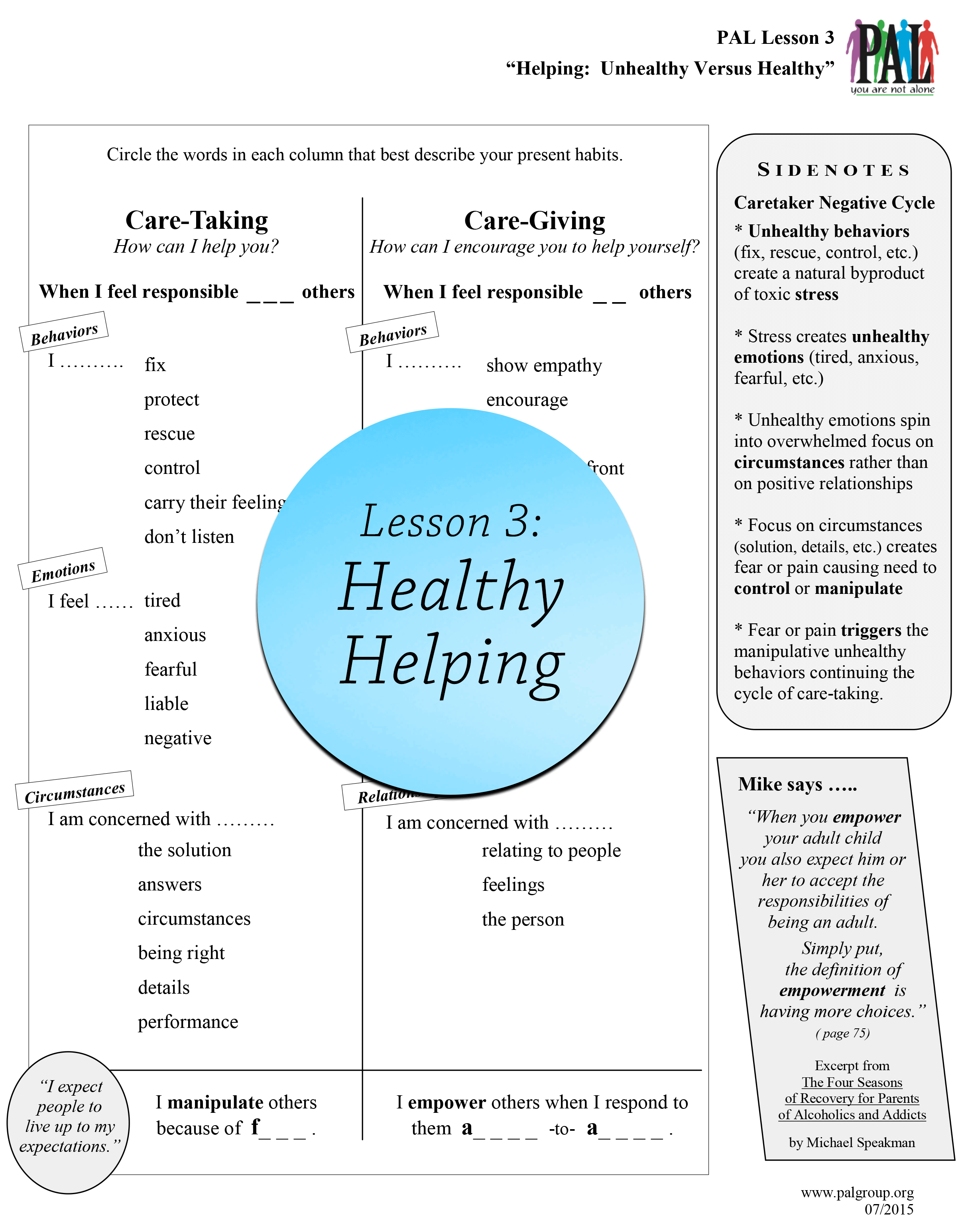 Lesson 3: Healthy Helping
