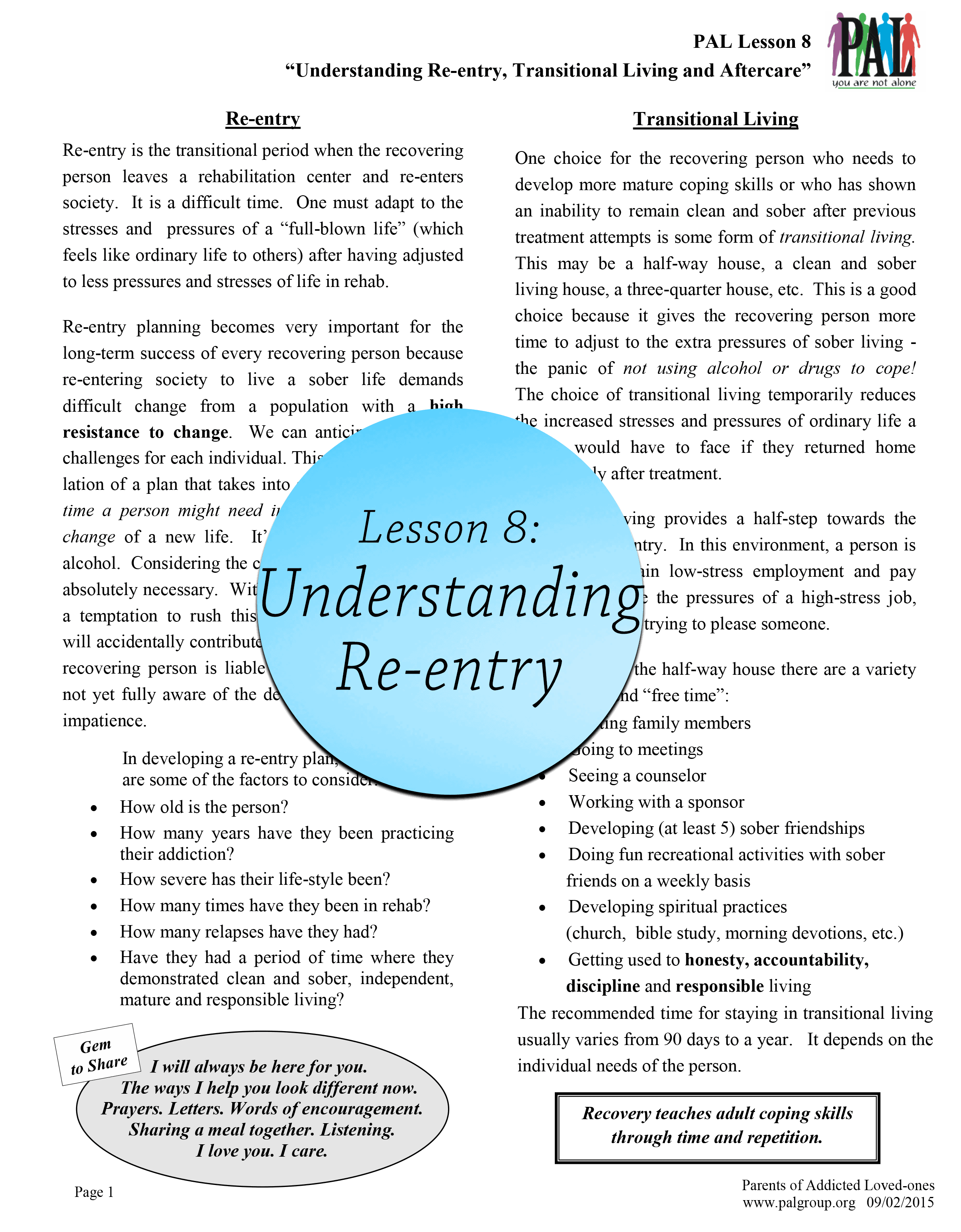 Lesson 8: Understanding Re-Entry